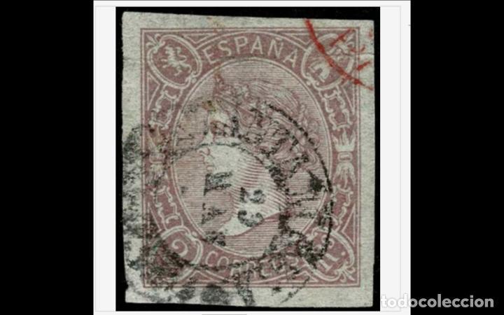 ESPAÑA - 1865 -- EDIFIL 73A - LUJO - MARQUILLADO -GRANDES MARGENES - FECHADOR - VALOR CATALOGO 145€. (Sellos - España - Isabel II de 1.850 a 1.869 - Usados)