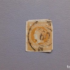Sellos: ESPAÑA - 1860-1861- ISABEL II - EDIFIL 52 - SOBRE FAGMENTO.. Lote 205046275