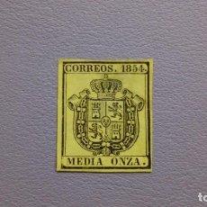 Sellos: ESPAÑA - 1854 - ISABEL II -EDIFIL 28 - MH* - NUEVO - ESCUDO DE ESPAÑA.. Lote 205060321