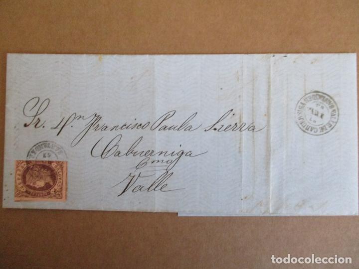 CIRCULADA Y ESCRITA PEDIDO DE CHOCOLATE 1863 DE TORRELAVEGA A VALLE CABUERNIGA SANTANDER (Sellos - España - Isabel II de 1.850 a 1.869 - Cartas)