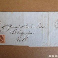 Sellos: CIRCULADA Y ESCRITA PEDIDO DE CHOCOLATE 1863 DE TORRELAVEGA A VALLE CABUERNIGA SANTANDER. Lote 205084181