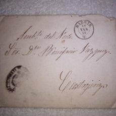 Sellos: SOBRE Y CARTA DE 1865 CONGRESO DE LOS DIPUTADOS A BONIFACIO VAZQUEZ DE J KUTZ. Lote 205092080