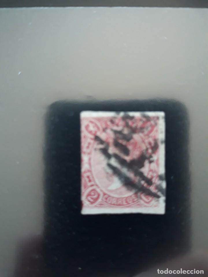 EDFIL 69 USADO. ESPAÑA 1865 ISABEL II 2 CUARTOS (Sellos - España - Isabel II de 1.850 a 1.869 - Usados)