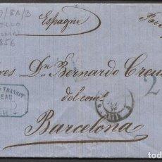 Sellos: 1856 MARSELLA A BARCELONA. PORTEO 2 R. Lote 205725157