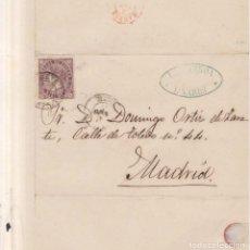 Sellos: AÑO 1868 EDIFIL 98 ISABEL II CARTA MATASELLOS LINARES JAEN MEMBRETE FIGUEROA. Lote 205836048