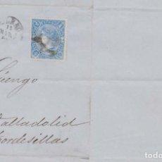 Sellos: AÑO 1865 EDIFIL 75 ISABEL II ENVUELTA MATASELLOS RUEDA CARRETA 20 BILBAO MEMBRETE GERARDO MOWINCKEL. Lote 205836922