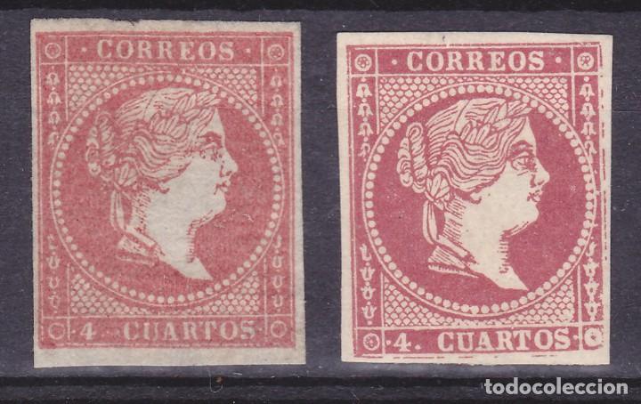 D35 EDIFIL Nº 44 (*) Y 48 * (Sellos - España - Isabel II de 1.850 a 1.869 - Nuevos)