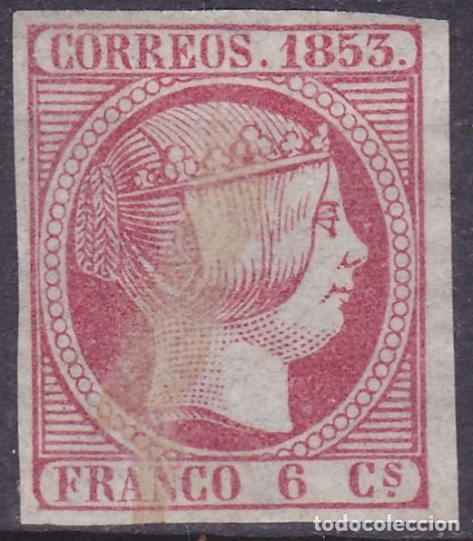 D38 EDIFIL Nº 17 (* )SERLLO NUEVO SIN GOMA, Y MANCHA LIMPIADA. (Sellos - España - Isabel II de 1.850 a 1.869 - Nuevos)