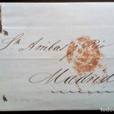 Sellos: ISABEL II CARTA COMPLETA VALENCIA A MADRID ARAÑA NEGRA 1851 EDIFIL 6. Lote 206336322
