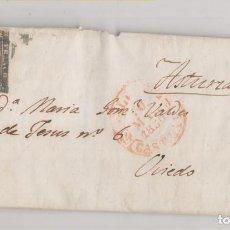 Sellos: CARTA ENTERA. VALLADOLID A OVIEDO, ASTURIAS. 1850. PRIMER SELLO DE ESPAÑA.. Lote 207241496