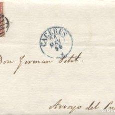 Sellos: 1856 CÁCERES A ARROYO DEL PUERCO.. Lote 207303575
