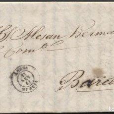 Sellos: 1861 LORCA A BARCELONA. Lote 207305462