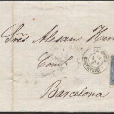 Sellos: 1865 CALATAYUD A BARCELONA. LLEGADA Y REPARTO. Lote 207306758
