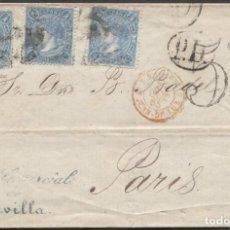 Sellos: 1865 SEVILLA A PARIS. LLEGADA Y TRÁNSITO. Lote 207307227