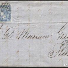 Sellos: 1865 MADRID A HUESCA. DOBLE PORTE Y LLEGADA. Lote 207307641