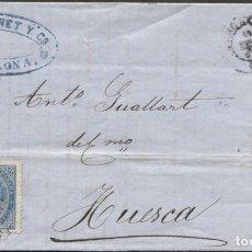 Sellos: 1867 BARCELONA A HUESCA. Lote 207308131