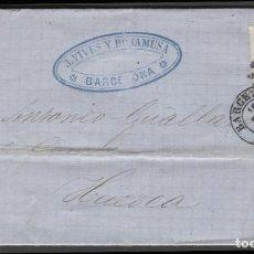 Sellos: 1870 BARCELONA A HUESCA. Lote 207309168