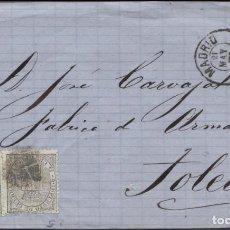 Sellos: 1874 MADRID A TOLEDO. IMPUESTO DE GUERRA. Lote 207310603