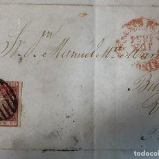 Sellos: CARTA REYNOSA A BOCOS BURGOS VILLARCAYO 1854 CUENTAS COMERCIALES S XIX A MANUEL MARIA MARTINEZ. Lote 207535867