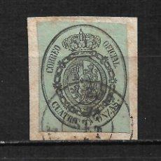 Selos: ESPAÑA 1855 EDIFIL 37 USADO ZARAGOZA - 15/60. Lote 208041831