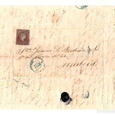 Sellos: CARTA CON SOBRE DE OVIEDO A MADRID. AÑO 1855. Lote 208475146