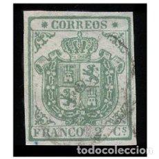 Selos: ESPAÑA 1854. EDIFIL 32. ESCUDO DE ESPAÑA (-LUJO- BUENOS MARGENES) USADO. Lote 208944571