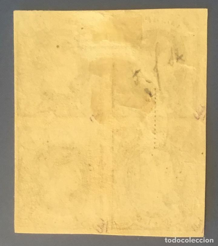 Sellos: 1864-ESPAÑA ISABEL II EDIFIL 68 MH* NUEVO - 2 reales azul s/rosa - BLOQUE DE 4 - Foto 2 - 209261420