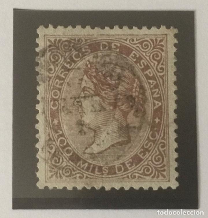 1868-ESPAÑA ISABEL II EDIFIL 99 º 100 MIL ESCUDOS CASTAÑO - USADO - (Sellos - España - Isabel II de 1.850 a 1.869 - Nuevos)