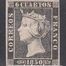 Sellos: ESPAÑA, 1850 EDIFIL Nº 1 A, (*), ISABEL II. Lote 209780258