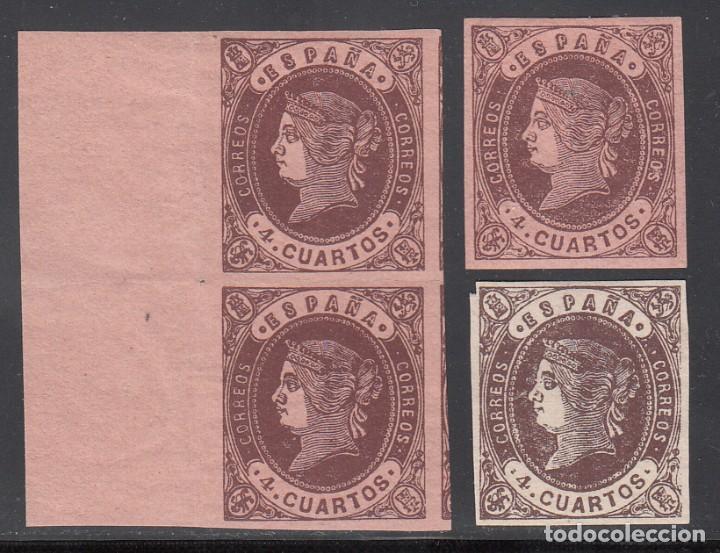 ESPAÑA, 1865 EDIFIL Nº 58, 58A , ISABEL II, (Sellos - España - Isabel II de 1.850 a 1.869 - Nuevos)