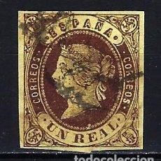 Selos: 1862 ESPAÑA EDIFIL 61 ISABEL II USADO. Lote 210025443