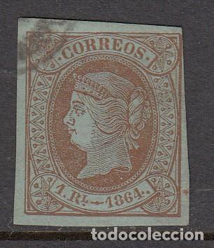 ISABEL II 1864 NUM. 67 USADO CON MARQUILLA (Sellos - España - Isabel II de 1.850 a 1.869 - Nuevos)