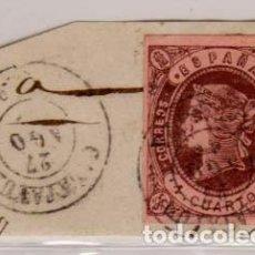 Sellos: AÑO 1862 EDIFIL 58 ISABEL II MATASELLOS CALATAYUD ZARAGOZA. Lote 210280805