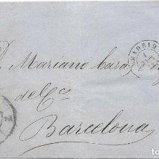 Sellos: EDIFIL 48. RUEDA DE CARRETA Nº 1. ENVUELTA DE MADRID A BARCELONA 1859. Lote 210375257