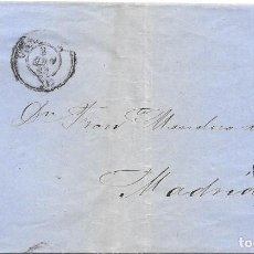 Sellos: EDIFIL 48. RUEDA DE CARRETA Nº 20. ENVUELTA DE BILBAO A MADRID. 1858. Lote 210379241