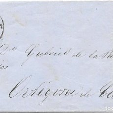 Sellos: EDIFIL 48. RUEDA DE CARRETA Nº 43. ENVUELTA DE SANTANDER A ORTIGOSA. 1859. Lote 210380227