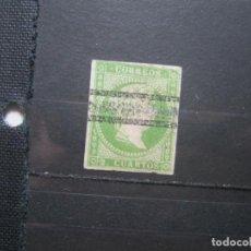 Selos: ISABEL II 2 CUARTOS EDIFIL 47 BARRADO!!!. Lote 210406116