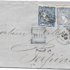 Sellos: EDIFIL 81. ENVUELTA DE BARCELONA A PERPIÑAN - FRANCIA. 1866. Lote 210408785