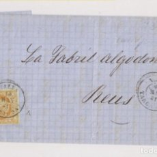 Sellos: ENVUELTA. VALLS, TARRAGONA. 4 CUARTOS AMARILLO. 1861. OJO, VER SELLO AL DETALLE. Lote 211466886