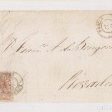 Sellos: FRONTAL. LUARCA, ASTURIAS. BONITO FECHADOR.1867. Lote 211492780