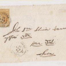 Sellos: FRONTAL. CERVERA. LÉRIDA, LLEIDA. 1861. BONITO FECHADOR. Lote 211498061
