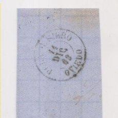 Sellos: FRAGMENTO. 1863. 4 CUARTOS. FECHADOR DE POLA DE SIERO, ASTURIAS. Lote 211499532