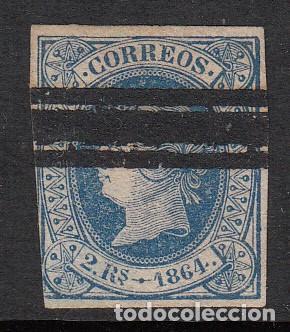1864 SELLO NUM. 68 BARRADO (Sellos - España - Isabel II de 1.850 a 1.869 - Usados)