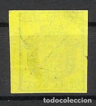 Sellos: 1854. Escudo de España. Edifil 28. 1/2 onza (*) - Foto 2 - 212703668