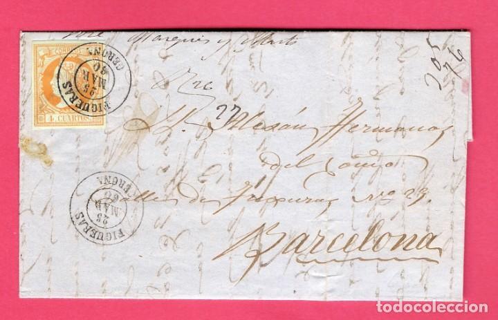 CARTA 1860. FIGUERAS-BARCELONA. EDIFIL 52.INTERESANTE (Sellos - España - Isabel II de 1.850 a 1.869 - Cartas)