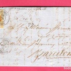 Sellos: CARTA 1860. FIGUERAS-BARCELONA. EDIFIL 52.INTERESANTE. Lote 212709010