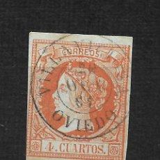 Timbres: ESPAÑA 1860 EDIFIL 52 VILLAVICIOSA OVIEDO - 20/33. Lote 213142871