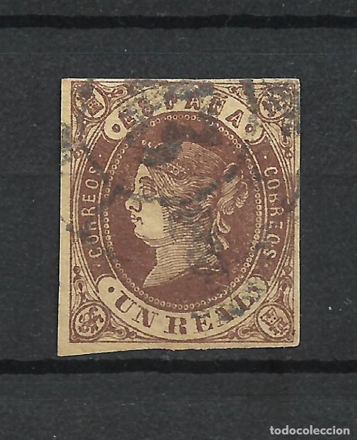 ESPAÑA 1862 EDIFIL 61 USADO - 6/2 (Sellos - España - Isabel II de 1.850 a 1.869 - Usados)