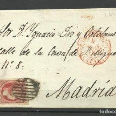 Sellos: CARTA DE BARCELONA A MADRID EN 1.853 FRANQUEADA. Lote 216732511