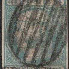 Sellos: ESPAÑA 1852 ISABEL II EDIFIL 16 USADO AUTÉNTICO. VER EXPLICACION EN FOTOGRAFÍAS V.CAT 725€ MARQUILLA. Lote 217287616